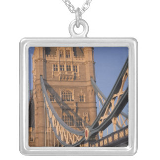 England, London, The Tower Bridge Silver Plated Necklace