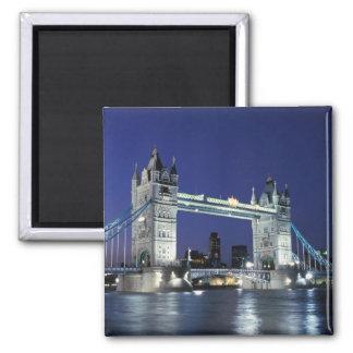 England, London, Tower Bridge 3 Square Magnet
