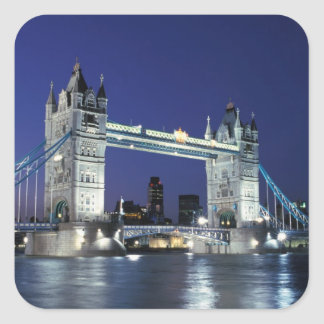 England, London, Tower Bridge 3 Square Sticker