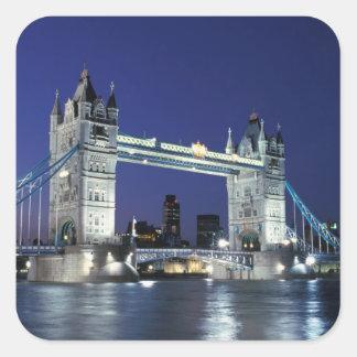 England, London, Tower Bridge 3 Square Stickers