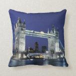 England, London, Tower Bridge 3 Throw Cushions