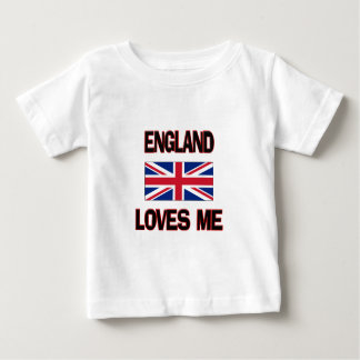England Loves Me Baby T-Shirt