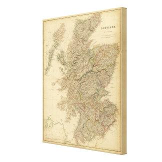 England Map Canvas Print