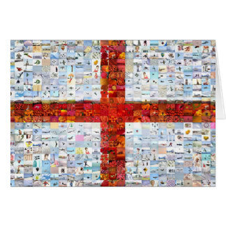 England Montage 600 Greeting Card
