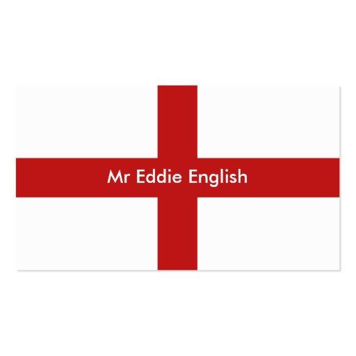 England, Mr Eddie English Business Cards