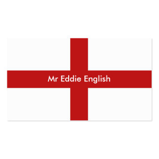 England, Mr Eddie English Pack Of Standard Business Cards
