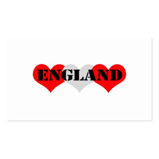 England Pack Of Standard Business Cards