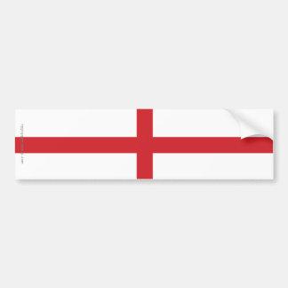 England Plain Flag Car Bumper Sticker