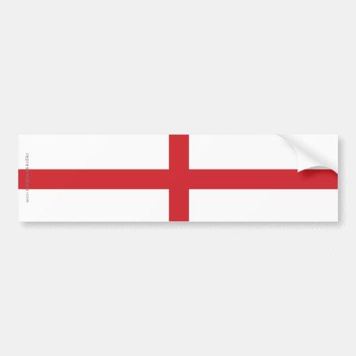 England Plain Flag Bumper Stickers