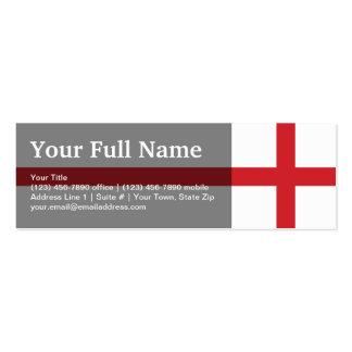 England Plain Flag Business Card Templates