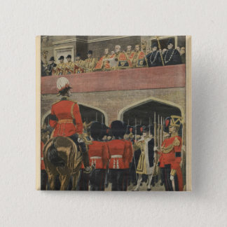 England, proclamation of the new King George V 15 Cm Square Badge