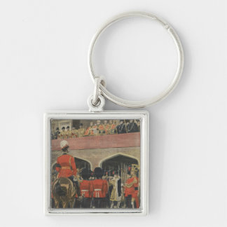 England, proclamation of the new King George V Silver-Colored Square Key Ring