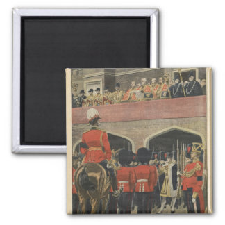 England, proclamation of the new King George V Square Magnet