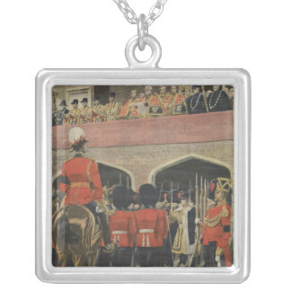England, proclamation of the new King George V Square Pendant Necklace