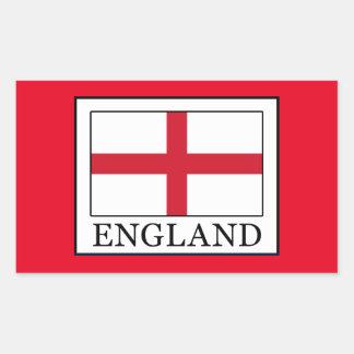England Rectangular Sticker