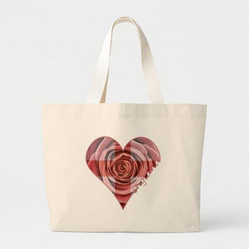 England Rose Heart Tote Bag