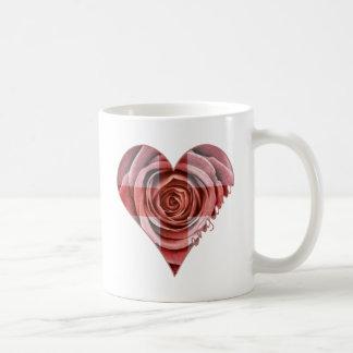 England Rose Heart Coffee Mug