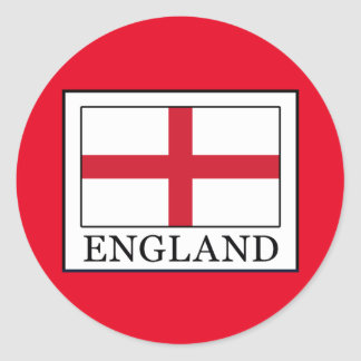 England Round Sticker