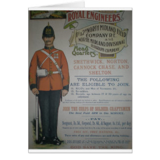 England Royal Engineers recruitment poster 1890 Greeting Card