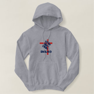 England Royal standard and St George cross Embroidered Hoodie