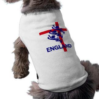 England Royal standard and St George cross Sleeveless Dog Shirt