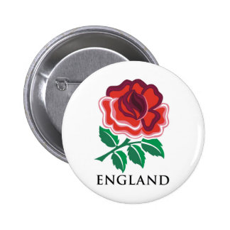 England Rugby Pinback Button
