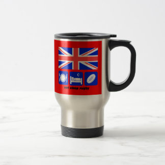 England rugby stainless steel travel mug