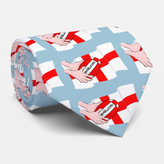 England Rugby Team Supporters Flag With Ball Tie