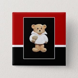 England Rugby Teddy Bear 15 Cm Square Badge