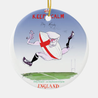 england rugby, tony fernandes round ceramic decoration