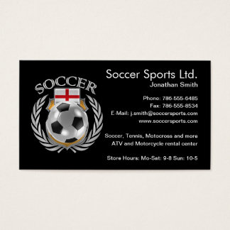 England Soccer 2016 Fan Gear Business Card