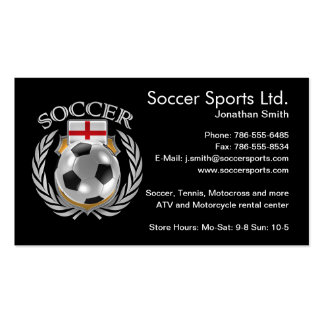 England Soccer 2016 Fan Gear Pack Of Standard Business Cards