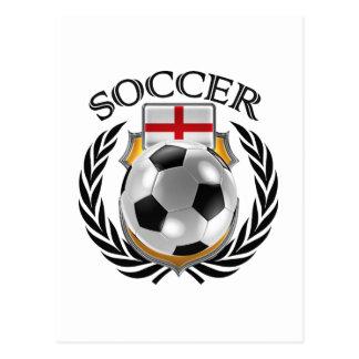 England Soccer 2016 Fan Gear Postcard