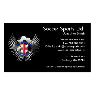 England Soccer Champions Business Card Template
