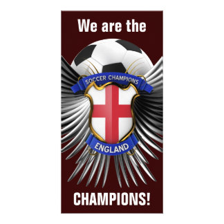 England Soccer Champions Picture Card