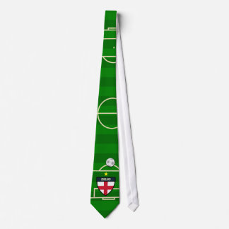 England Soccer Field Football Tie