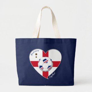 """""""ENGLAND"""" Soccer Team. Soccer of England 2014 Tote Bags"""