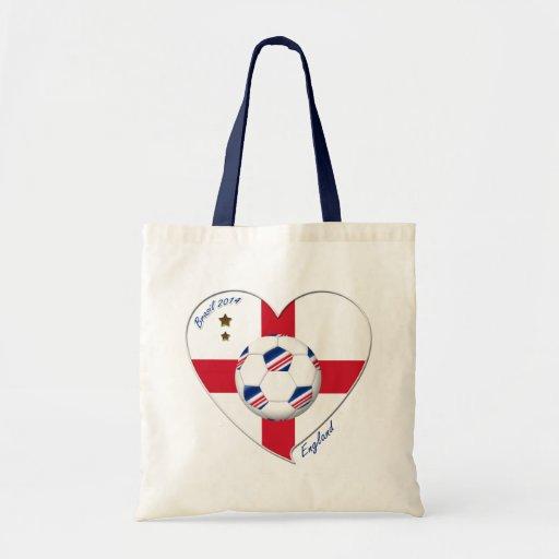 """ENGLAND"" Soccer Team. Soccer of England 2014 Canvas Bags"