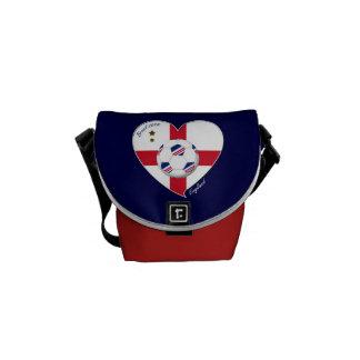 """ENGLAND"" Soccer Team. Soccer of England 2014 Messenger Bag"