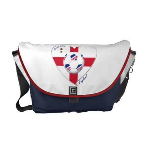 """ENGLAND"" Soccer Team. Soccer of England 2014 Messenger Bags"