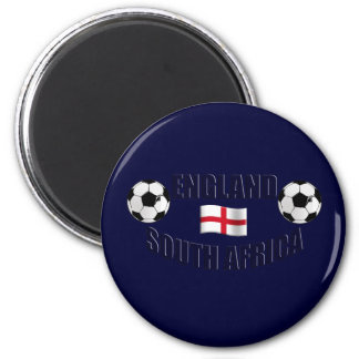 England South Africa Soccer fans gifts Fridge Magnet