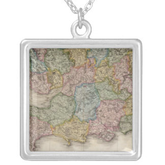England, southern part silver plated necklace
