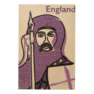 England & St. George vintage style travel poster Wood Canvases