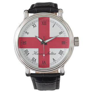 England ,St Georges Cross Flag. Wristwatches