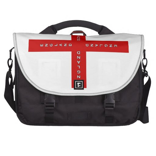 England St. George's cross Laptop Messenger Bag