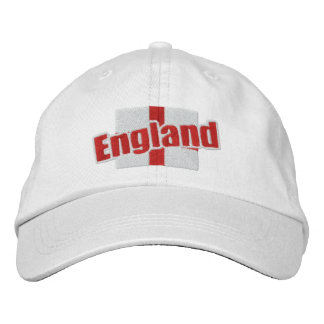 England St Georges Cross Patriotic Flag With Text Embroidered Cap