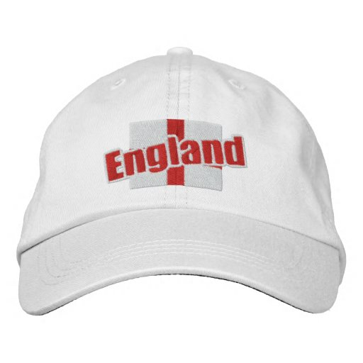 England St Georges Cross Patriotic Flag With Text Embroidered Baseball Cap