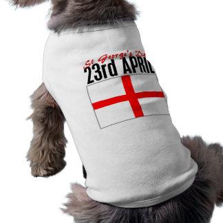 England, St George's Day Sleeveless Dog Shirt