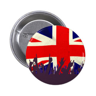 England State Flag with Audience 6 Cm Round Badge