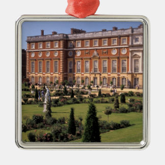 England, Surrey, Hampton Court Palace. Silver-Colored Square Decoration